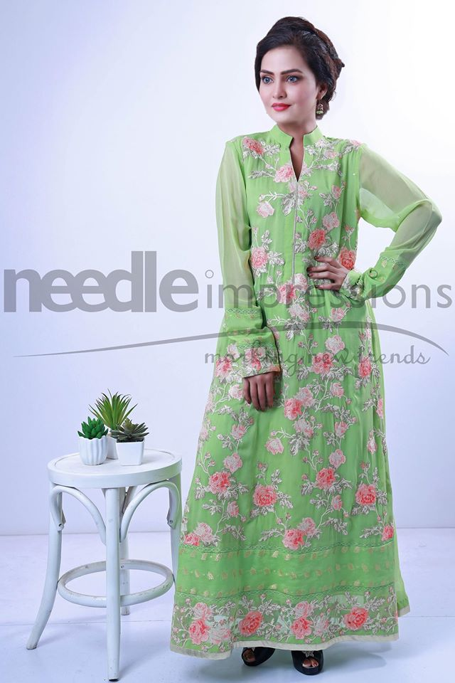 Needle Impressions Latest Fancy Embroidered Chiffon Dresses Collection 2016-2017 (12)