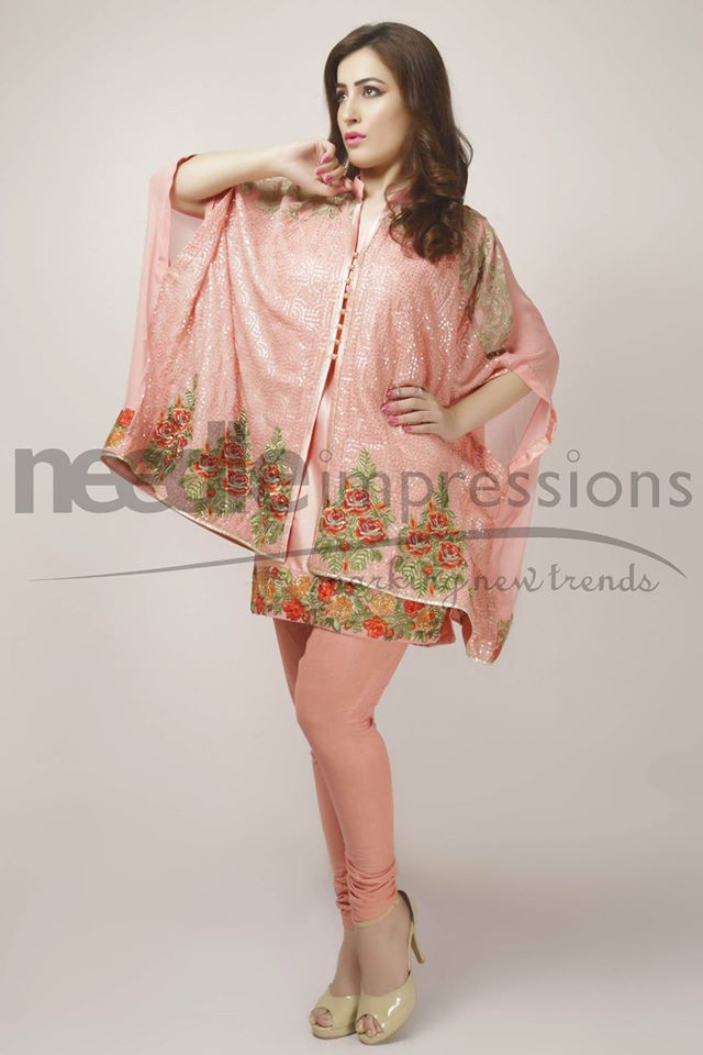 Needle Impressions Latest Fancy Embroidered Chiffon Dresses Collection 2016-2017 (13)