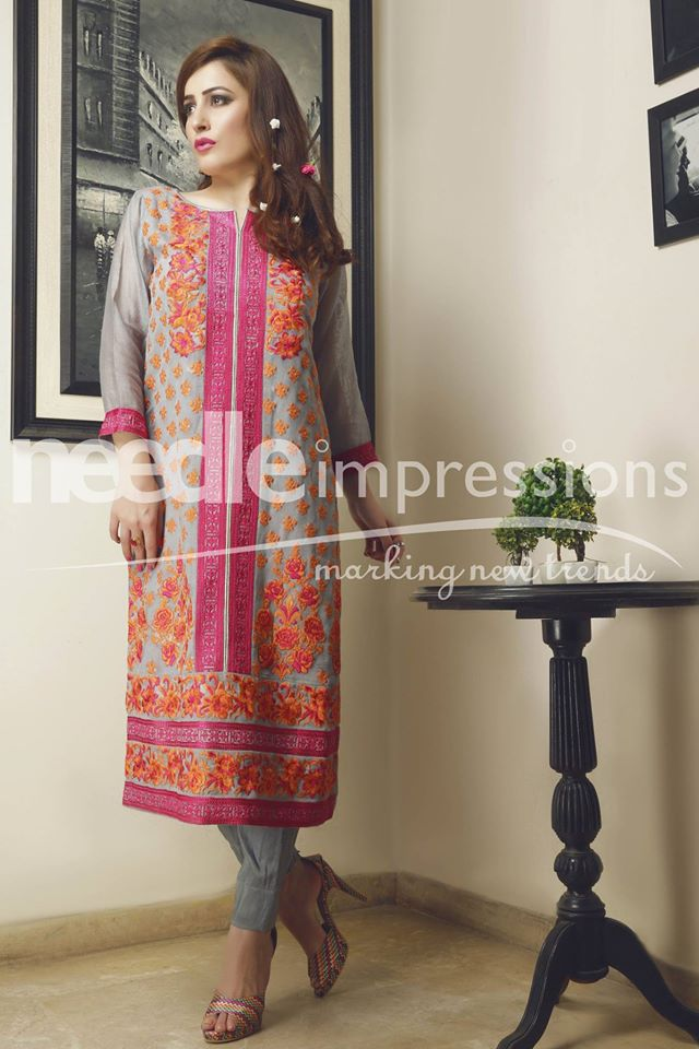 Needle Impressions Latest Fancy Embroidered Chiffon Dresses Collection 2016-2017 (14)