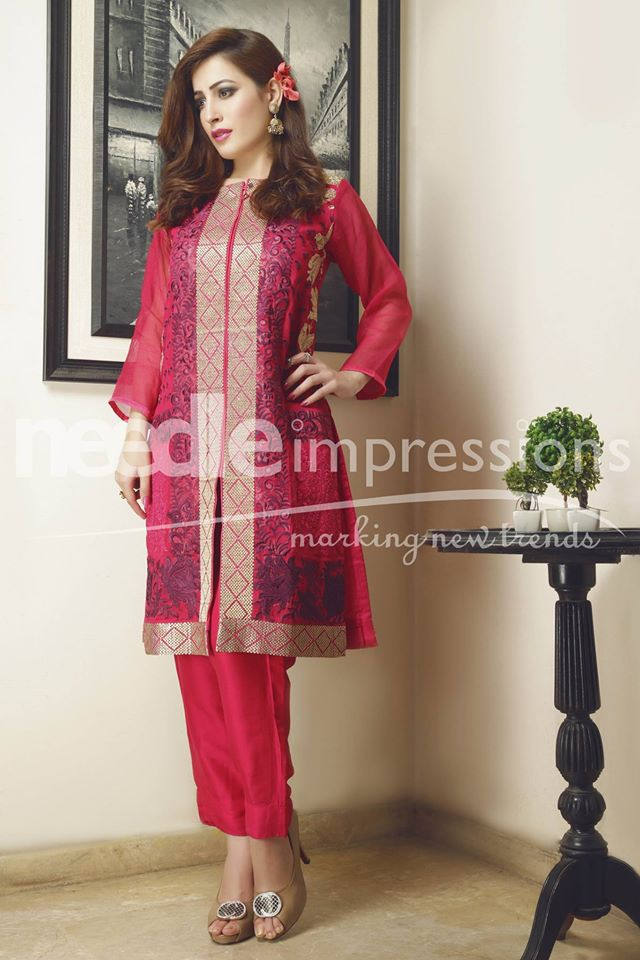 Needle Impressions Latest Fancy Embroidered Chiffon Dresses Collection 2016-2017 (15)