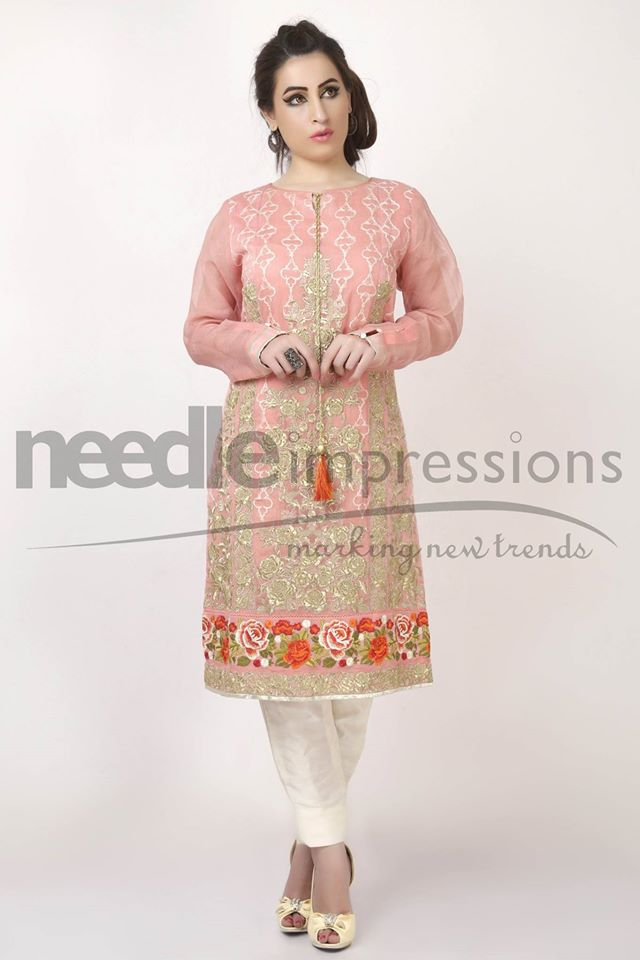Needle Impressions Latest Fancy Embroidered Chiffon Dresses Collection 2016-2017 (16)