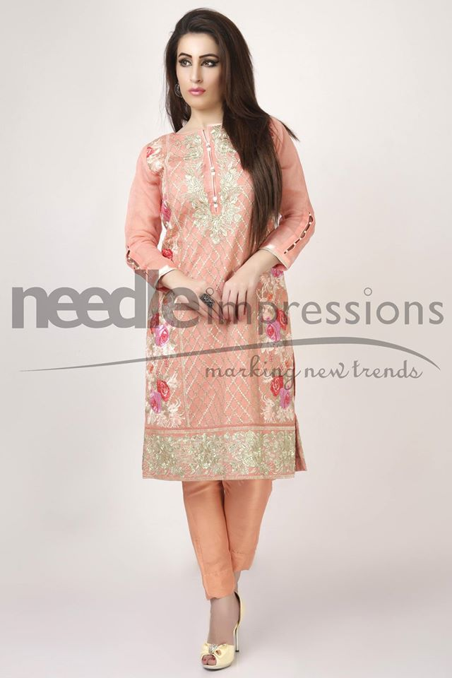 Needle Impressions Latest Fancy Embroidered Chiffon Dresses Collection 2016-2017 (17)