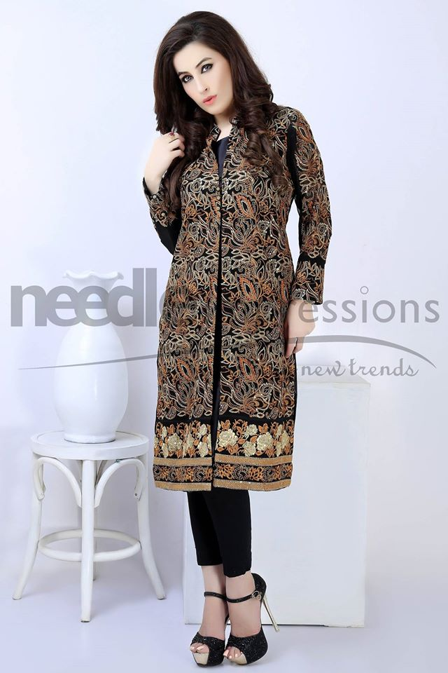 latest fancy chiffon dresses designs 2016 2017 by needle impressions. Black Bedroom Furniture Sets. Home Design Ideas