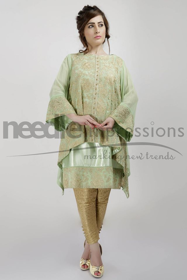 Needle Impressions Latest Fancy Embroidered Chiffon Dresses Collection 2016-2017 (19)