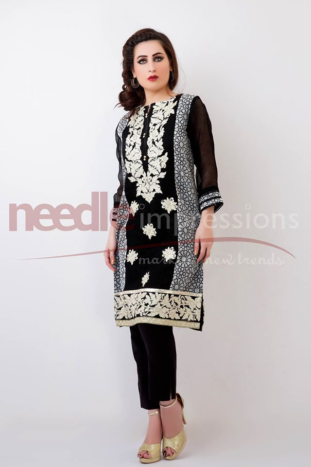 Needle Impressions Latest Fancy Embroidered Chiffon Dresses Collection 2016-2017 (20)