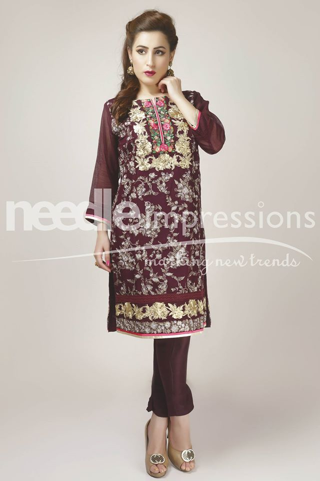 Needle Impressions Latest Fancy Embroidered Chiffon Dresses Collection 2016-2017 (21)