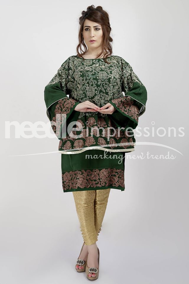 Needle Impressions Latest Fancy Embroidered Chiffon Dresses Collection 2016-2017 (22)
