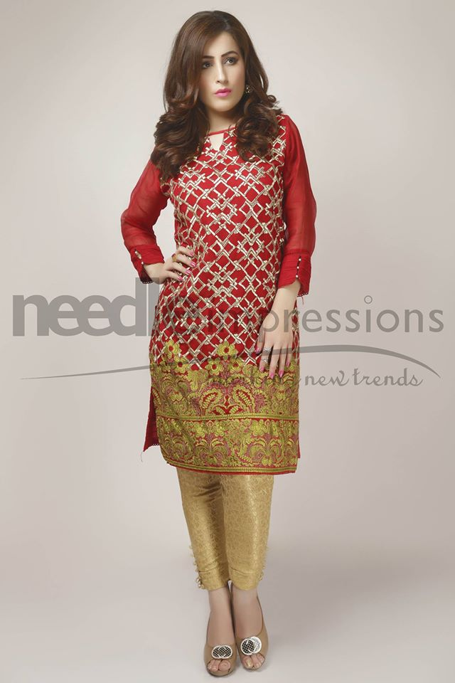 Needle Impressions Latest Fancy Embroidered Chiffon Dresses Collection 2016-2017 (23)