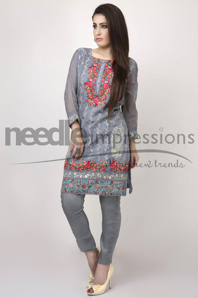 Needle Impressions Latest Fancy Embroidered Chiffon Dresses Collection 2016-2017 (24)