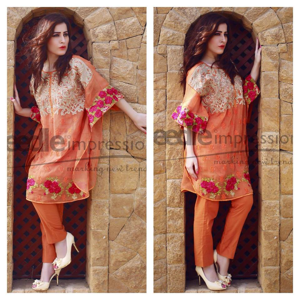 Needle Impressions Latest Fancy Embroidered Chiffon Dresses Collection 2016-2017 (29)