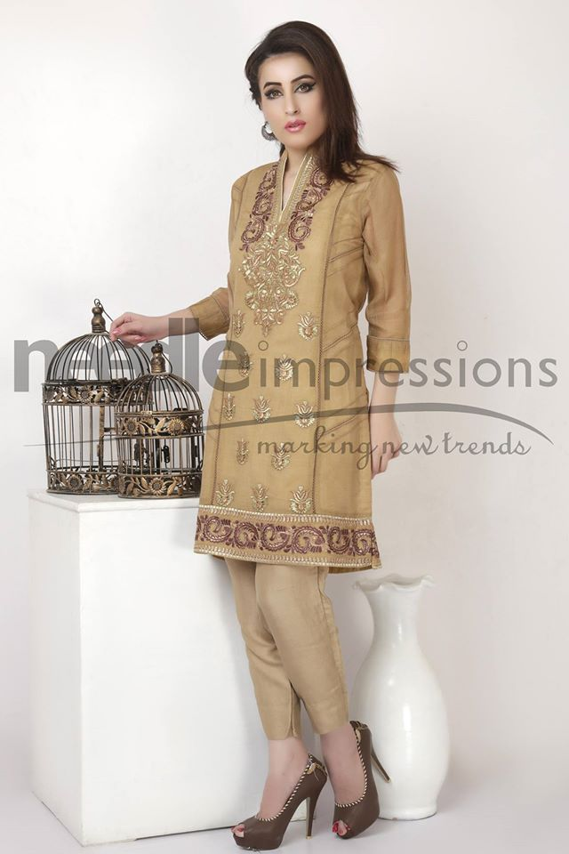 Needle Impressions Latest Fancy Embroidered Chiffon Dresses Collection 2016-2017 (3)