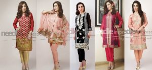 Latest Fancy Chiffon Dresses Designs 2016-2017 by Needle Impressions