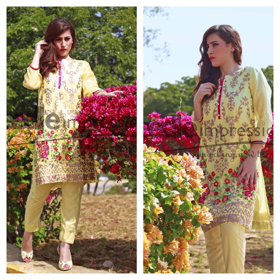 Needle Impressions Latest Fancy Embroidered Chiffon Dresses Collection 2016-2017 (31)