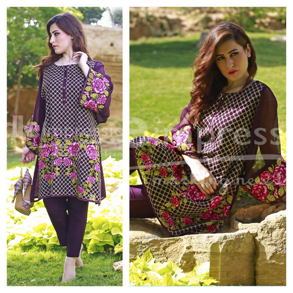 Needle Impressions Latest Fancy Embroidered Chiffon Dresses Collection 2016-2017 (33)