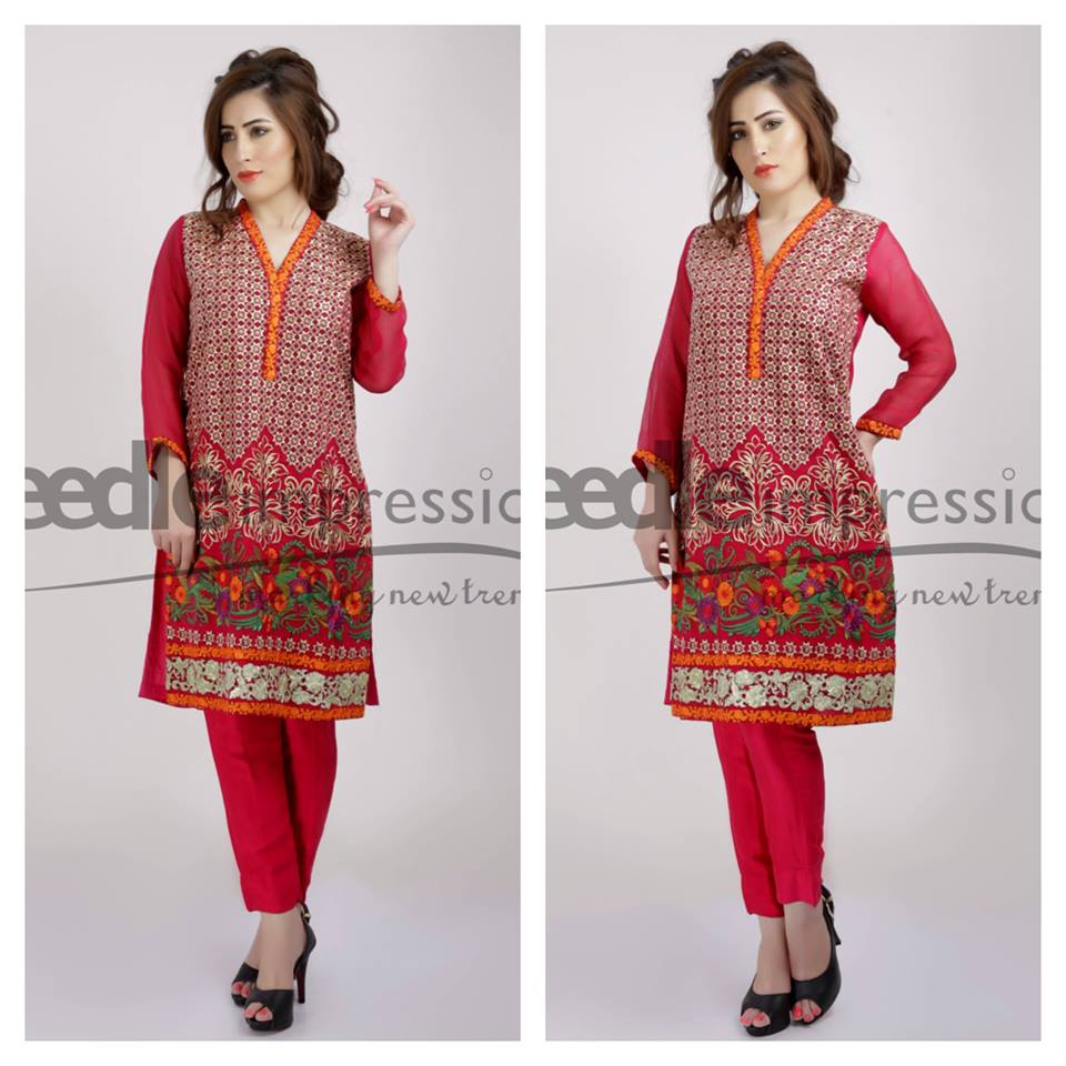 Needle Impressions Latest Fancy Embroidered Chiffon Dresses Collection 2016-2017 (34)