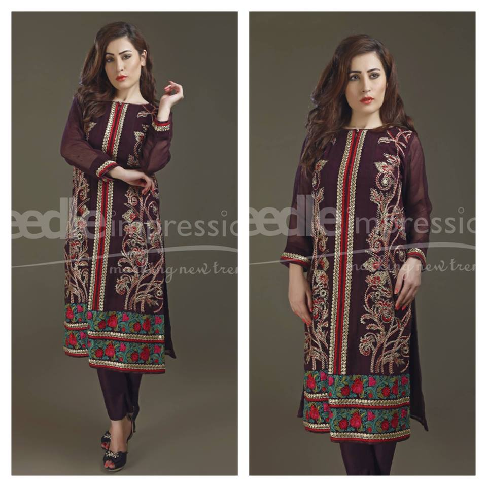 Needle Impressions Latest Fancy Embroidered Chiffon Dresses Collection 2016-2017 (35)