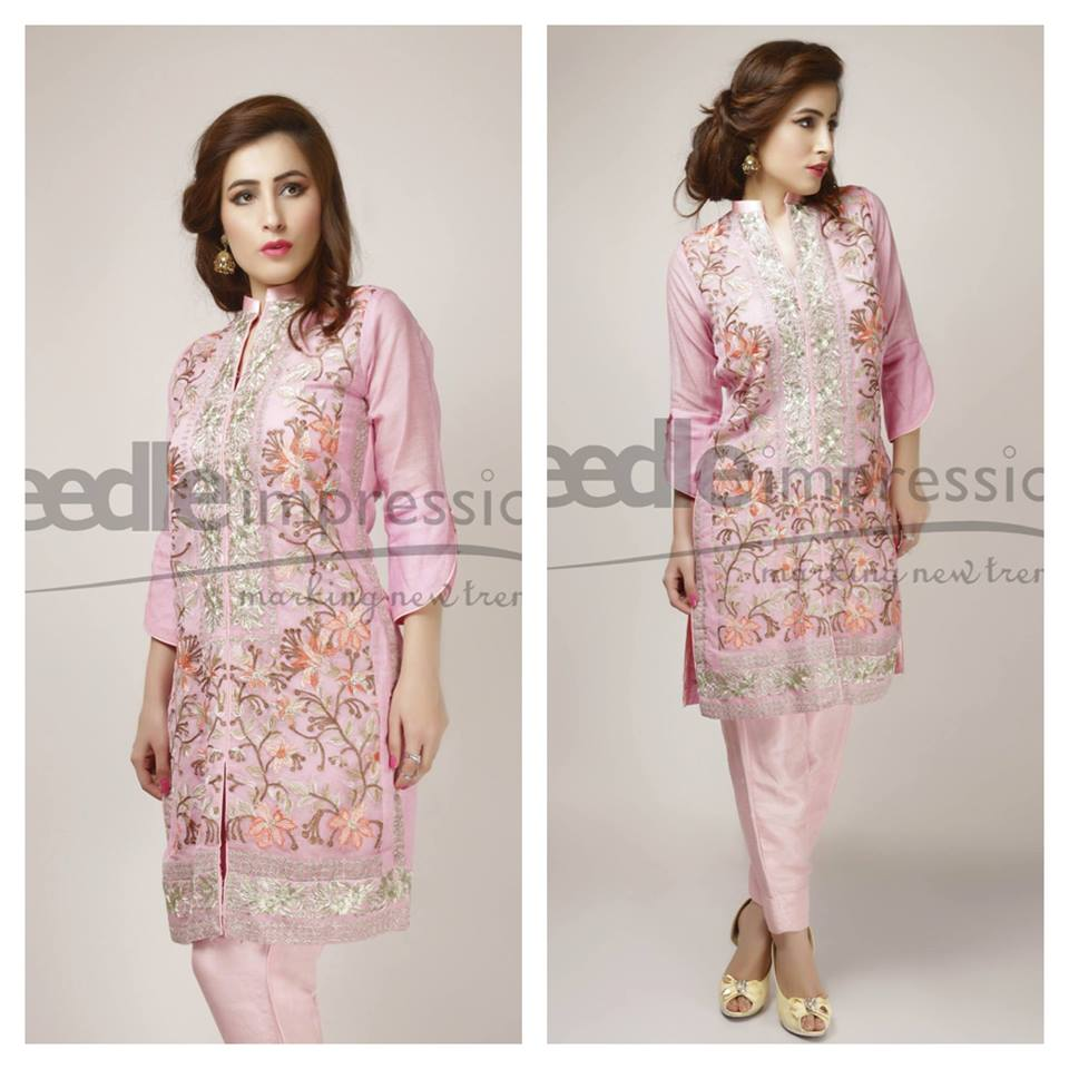Needle Impressions Latest Fancy Embroidered Chiffon Dresses Collection 2016-2017 (36)