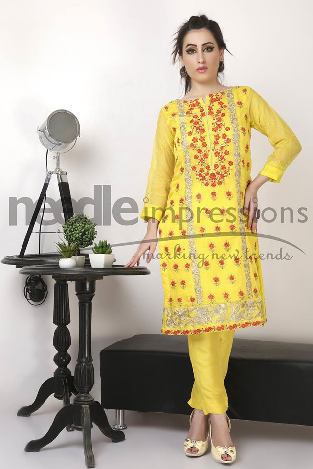 Needle Impressions Latest Fancy Embroidered Chiffon Dresses Collection 2016-2017 (6)