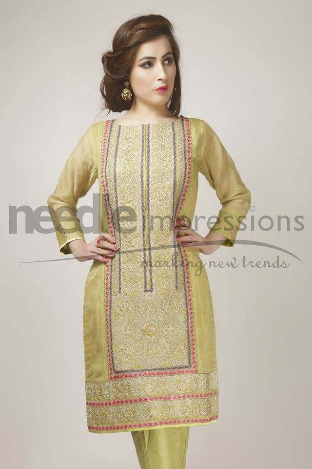 Needle Impressions Latest Fancy Embroidered Chiffon Dresses Collection 2016-2017 (7)