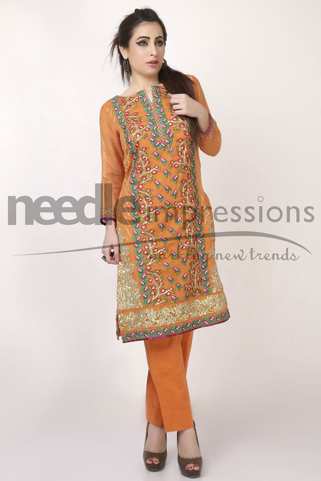 Needle Impressions Latest Fancy Embroidered Chiffon Dresses Collection 2016-2017 (8)