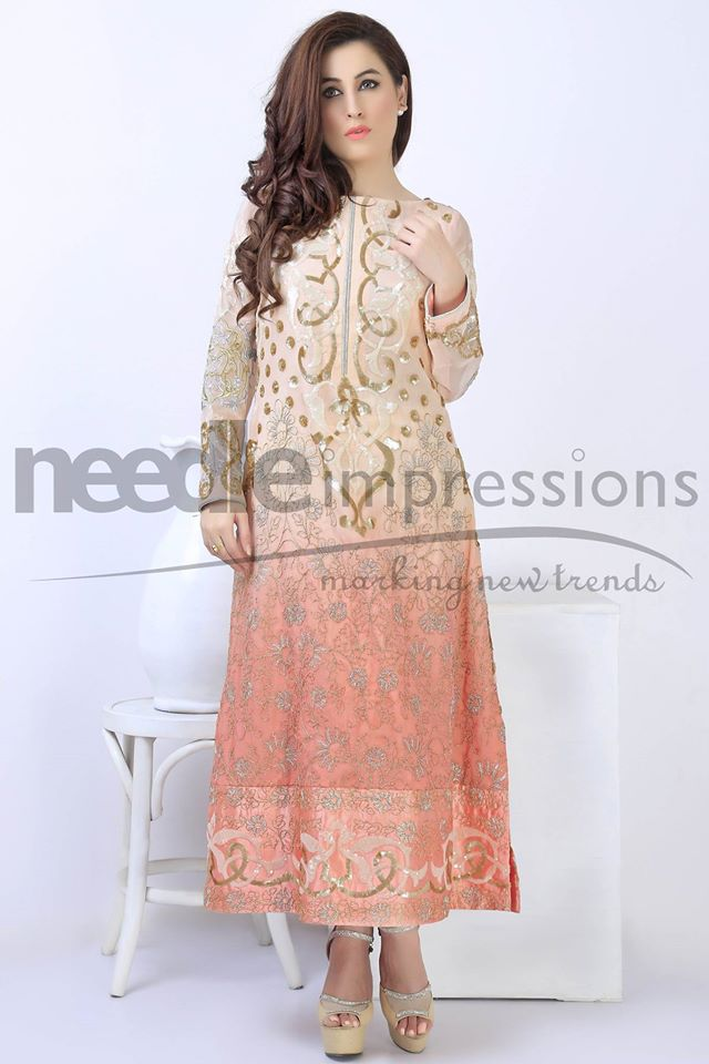 Needle Impressions Latest Fancy Embroidered Chiffon Dresses Collection 2016-2017 (9)