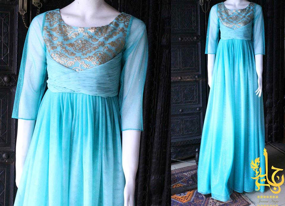 Party Wear Frocks & Gown Designs Latest Collection 2015-2016 (1)