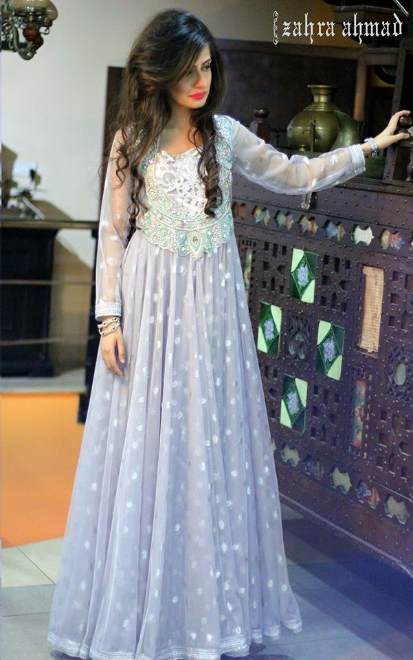 Party Wear Frocks & Gown Designs Latest Collection 2015-2016 (10)