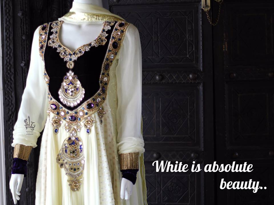 Party Wear Frocks & Gown Designs Latest Collection 2015-2016 (12)