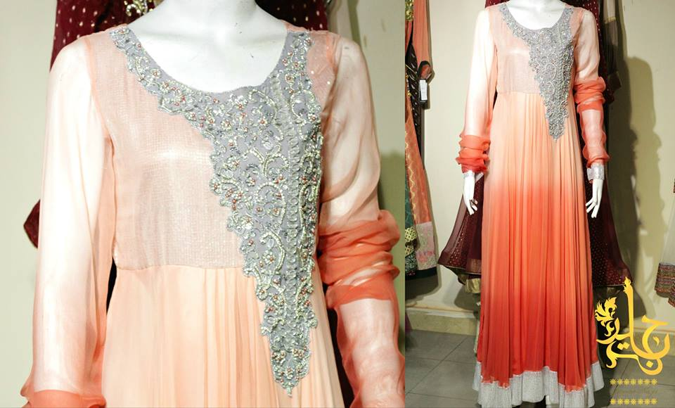 Party Wear Frocks & Gown Designs Latest Collection 2015-2016 (14)