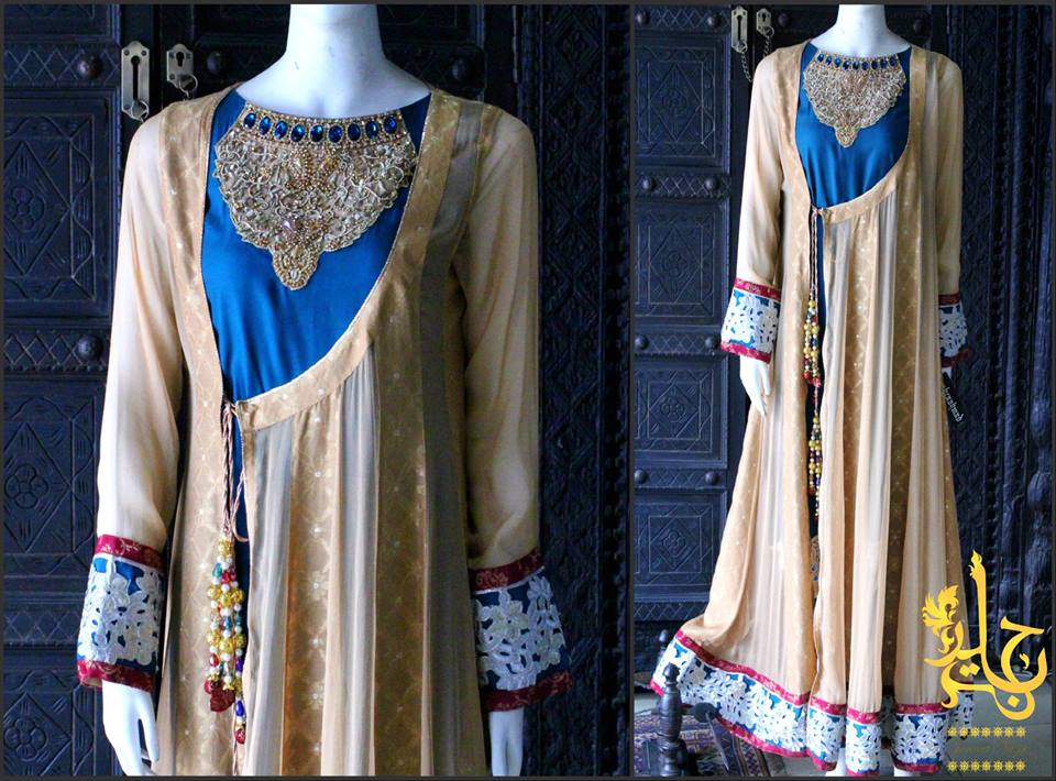 Party Wear Frocks & Gown Designs Latest Collection 2015-2016 (19)