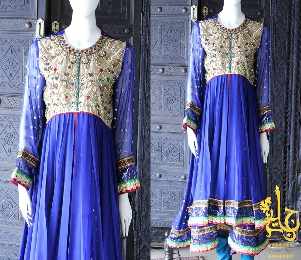 Party Wear Frocks & Gown Designs Latest Collection 2015-2016 (22)
