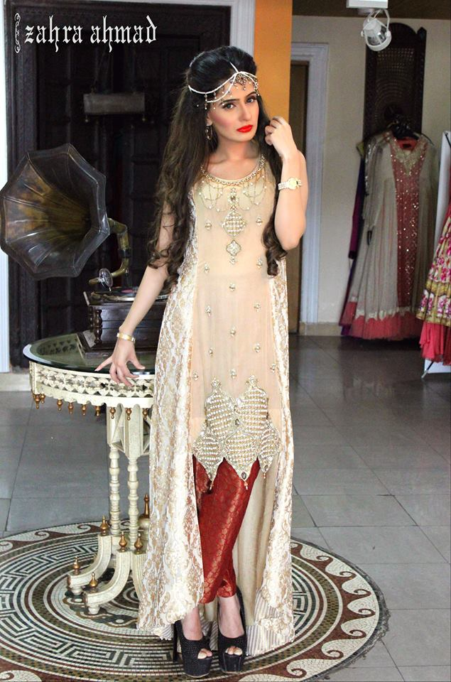 Party Wear Frocks & Gown Designs Latest Collection 2015-2016 (23)