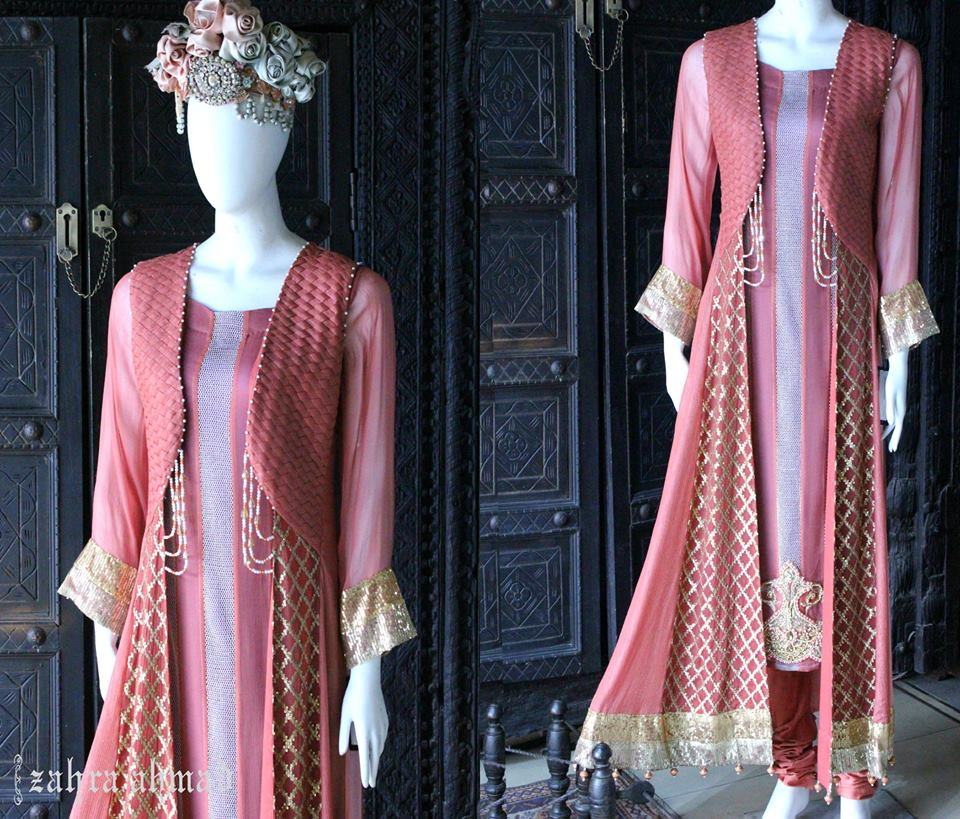 Party Wear Frocks & Gown Designs Latest Collection 2015-2016 (26)
