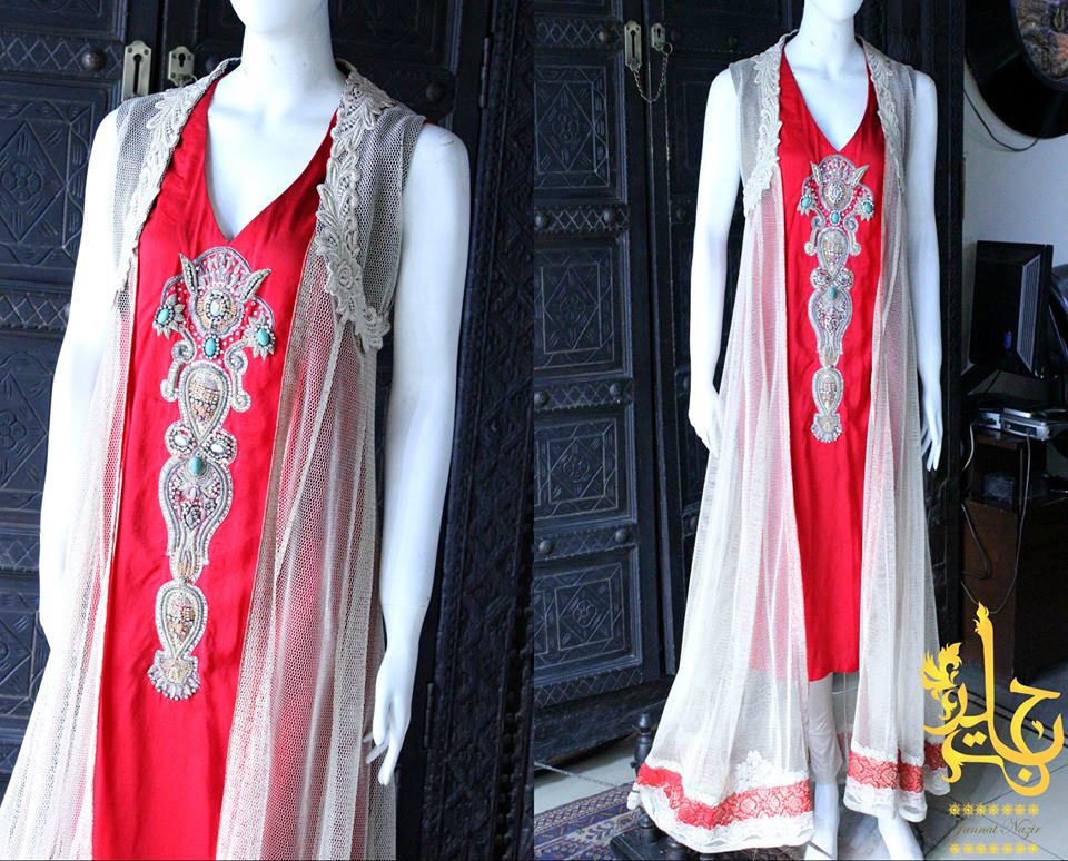 Party Wear Frocks & Gown Designs Latest Collection 2015-2016 (3)