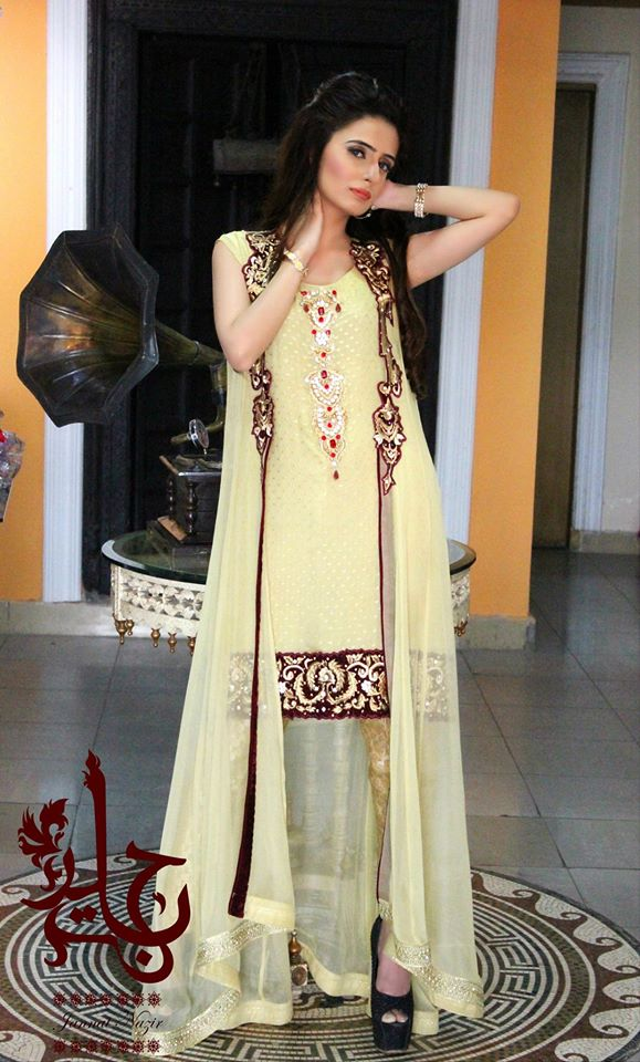 Party Wear Frocks & Gown Designs Latest Collection 2015-2016 (4)