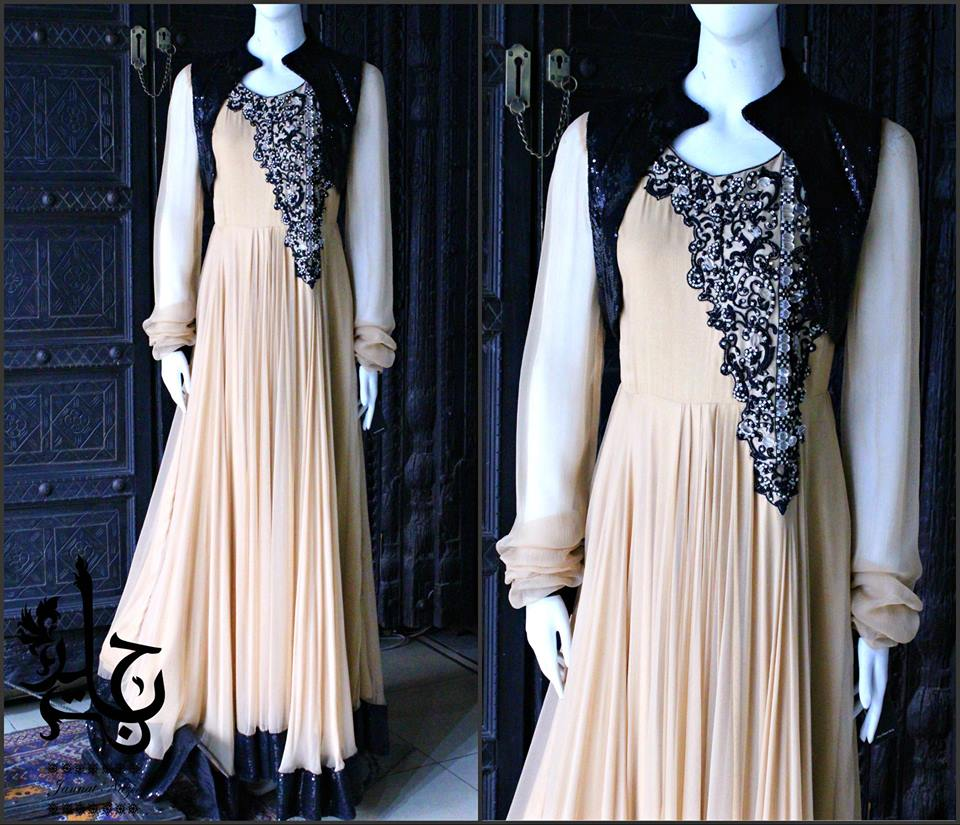 Party Wear Frocks & Gown Designs Latest Collection 2015-2016 (5)