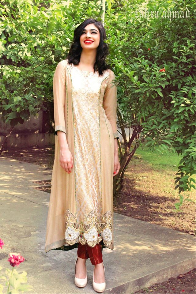 Party Wear Frocks & Gown Designs Latest Collection 2015-2016 (9)