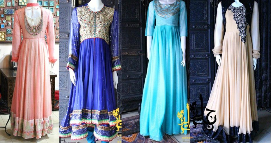 Party Wear Frocks & Gown Designs Latest Collection 2015-2016