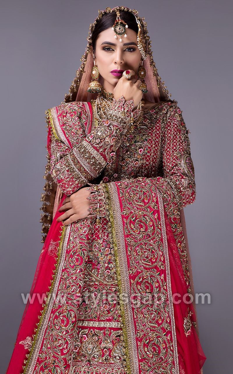 Fahad hussayn latest pakistani designer bridal dresses Pakistani fashion designers