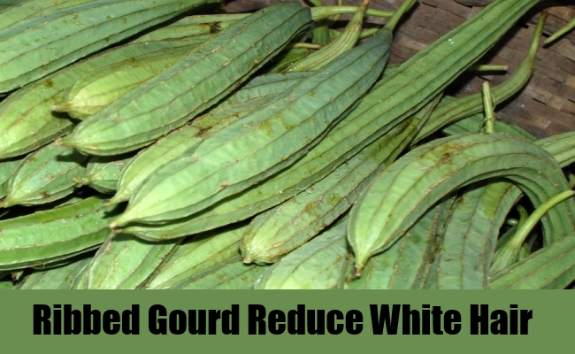 Ribbed Gourd for white hair