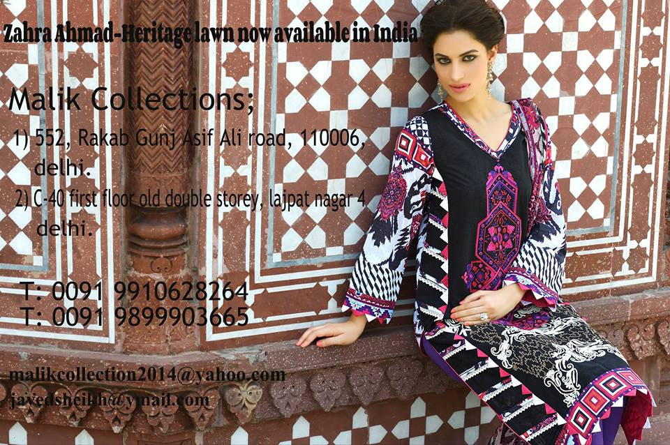 Zahra Ahmed Mystical Printed Shirts Tunics Collection 2015-16 (10)