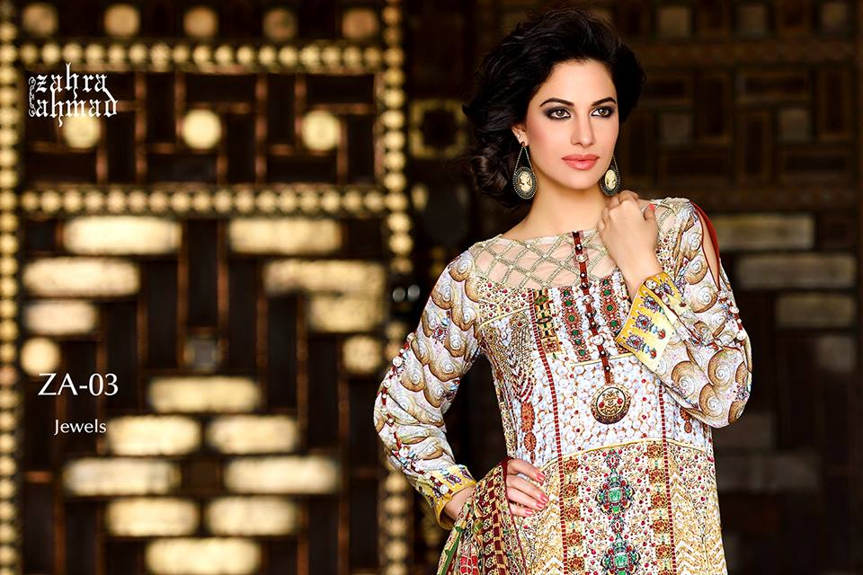 Zahra Ahmed Mystical Printed Shirts Tunics Collection 2015-16 (11)