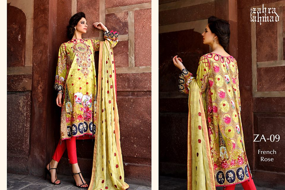 Zahra Ahmed Mystical Printed Shirts Tunics Collection 2015-16 (12)