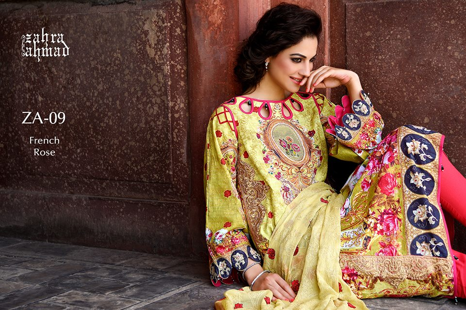 Zahra Ahmed Mystical Printed Shirts Tunics Collection 2015-16 (14)