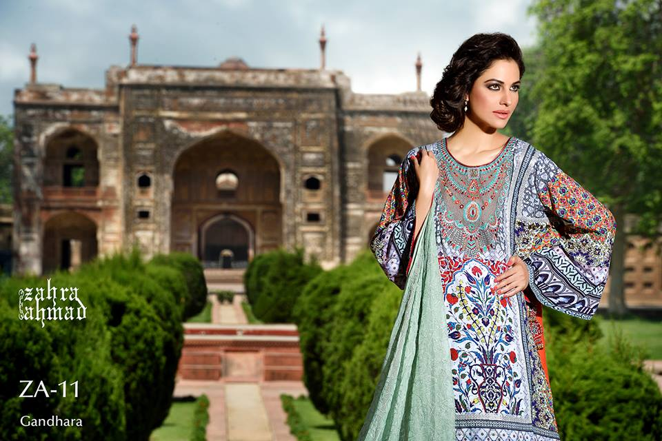 Zahra Ahmed Mystical Printed Shirts Tunics Collection 2015-16 (15)