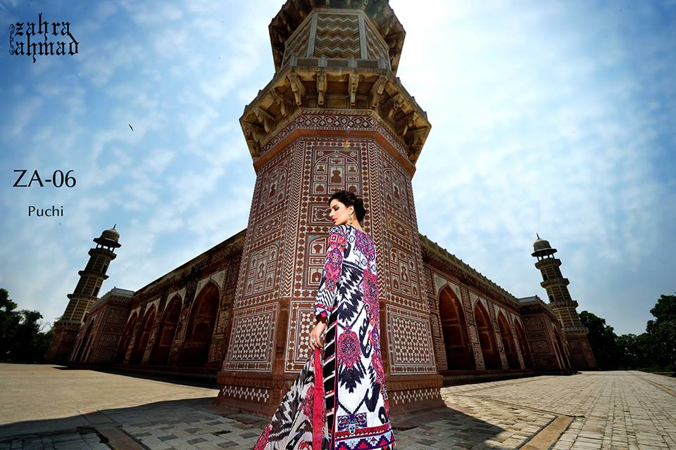 Zahra Ahmed Mystical Printed Shirts Tunics Collection 2015-16 (16)
