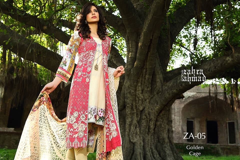 Zahra Ahmed Mystical Printed Shirts Tunics Collection 2015-16 (17)