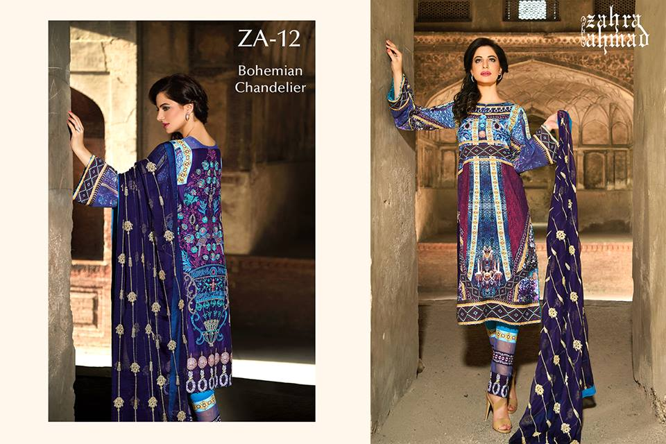 Zahra Ahmed Mystical Printed Shirts Tunics Collection 2015-16 (21)