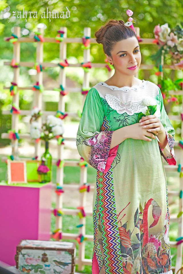 Zahra Ahmed Mystical Printed Shirts Tunics Collection 2015-16 (24)