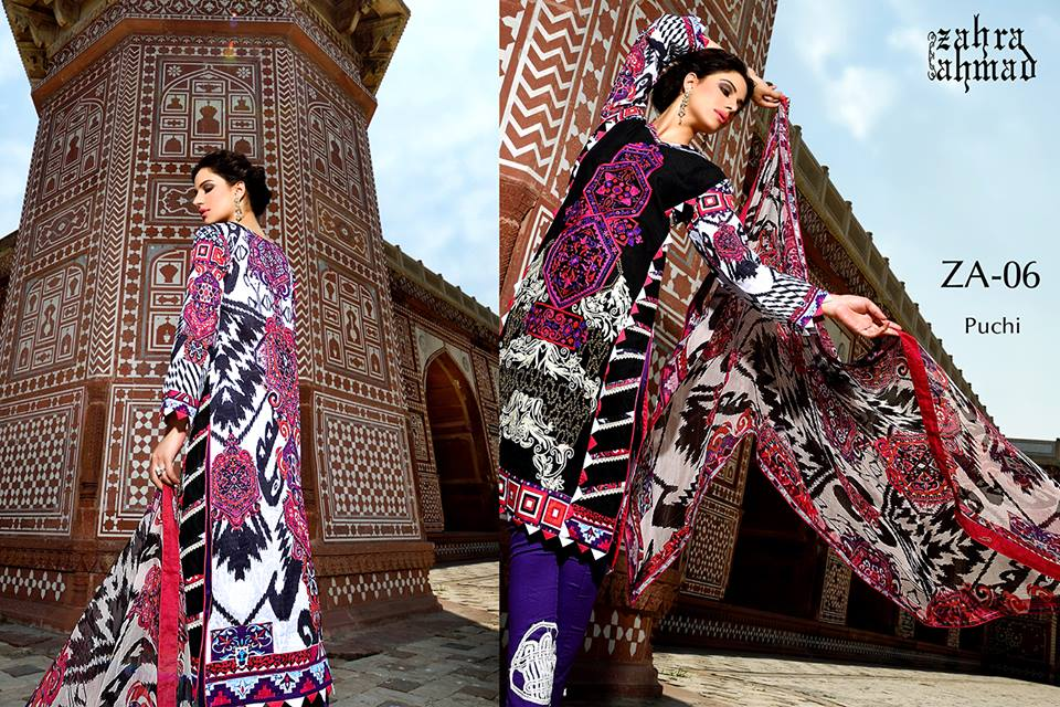 Zahra Ahmed Mystical Printed Shirts Tunics Collection 2015-16 (25)